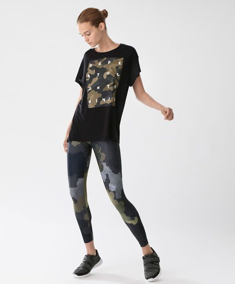 T-shirt manches courtes camouflage