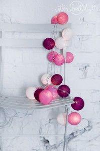 Sweet pink - zestaw Cotton Ball Lights https://ekotechnik24.pl