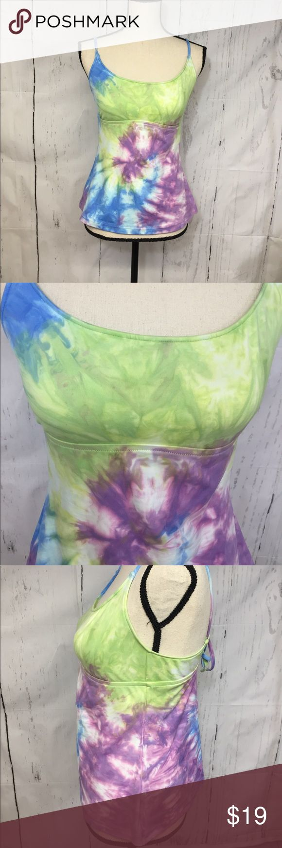 ( Lucky Brand) woman's Tankini Bathing Suit Size M , pre-owned Lucky Brand Swim