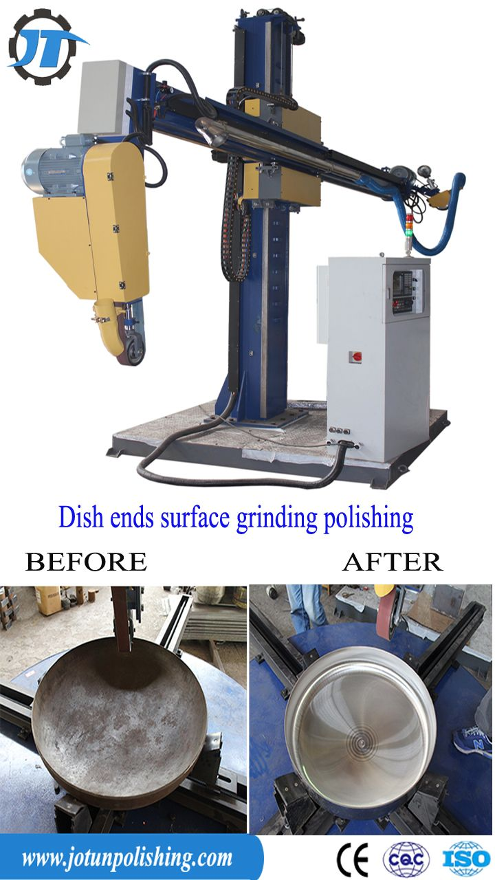 How to operate CNC automatic polishing machine for steel dished end & tank head surface grinding? For more pictures and videos please contact:Email:sales04@jotunmachinery.com Whatsapp:86-18656970696(Sean Cheung). #CNC polishing machine.#dished end surface grinding machine.#tank heads automatic polishing machine.#polishing machine email.#CNCgrindingmachine.#mirror surface buffing.
