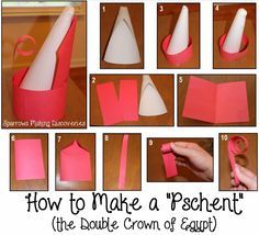 how to make an ancient egypt double crown - Google Search