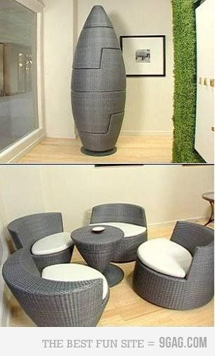 Woah, never seen anything like this before! Pretty cool, would be great for an outdoor living space that isn't very big