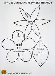 Resultado de imagem para flores de eva com frisadores