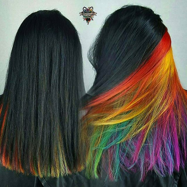 Celebrities Wear Rainbow Colored - Hair