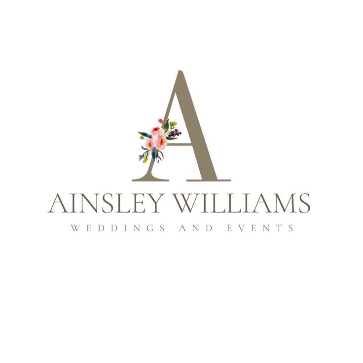 Business logo, Photography Logo, Premade Logo, Graphic Design, Floral Logo, Wedding Planner Logo, Initial Logo by TheBlushingElm on Etsy