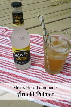 Mike's Hard Lemonade Arnold Palmer is the perfect Labor Day drink!