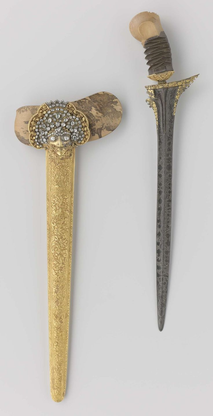 Kris (dagger) of King William I, circa 1835. This kris was presented to King William I by the Sultan of Madura, Cakra Adinigrat VIII, in 1835. In an accompanying letter, the sultan expressed a thousand thanks for his appointment as a Commander in the Order of the Dutch Lion. His gift to the king was a kris 'made at my kraton [= palace]'.