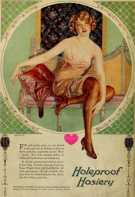 1924 Holeproof Hosiery ad by my-blue-heaven, via Flickr