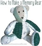 Teddy Bear Pattern From Baby Sleepers: how to make a memory bear ...