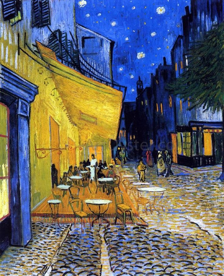 A Cafe Terrace on the Place du Forum (also known as Cafe Terrace at Night) by Vincent Van Gogh – Hand Painted Oil Painting