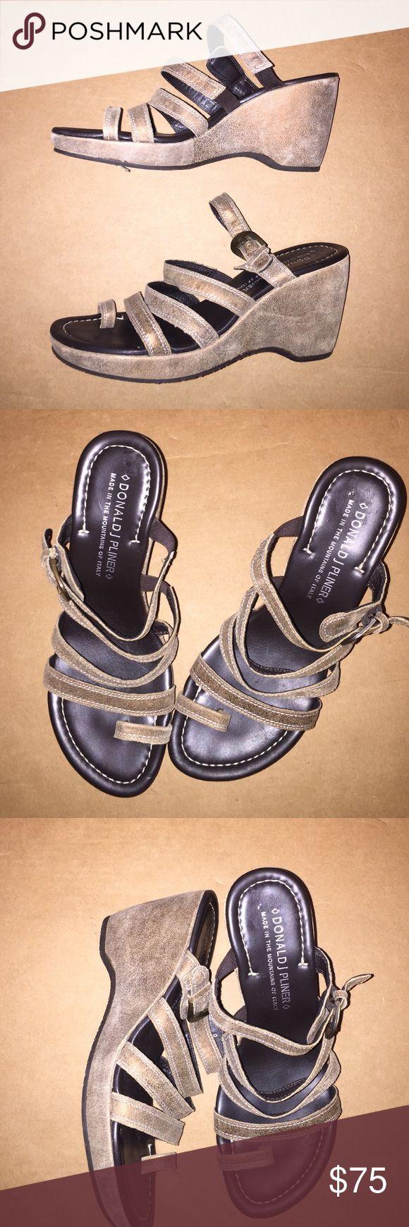 """Donald j. Pliner leather 3"""" wedges Donald j. Pliner suede leather wedges Donald J. Pliner Shoes Wedges"""