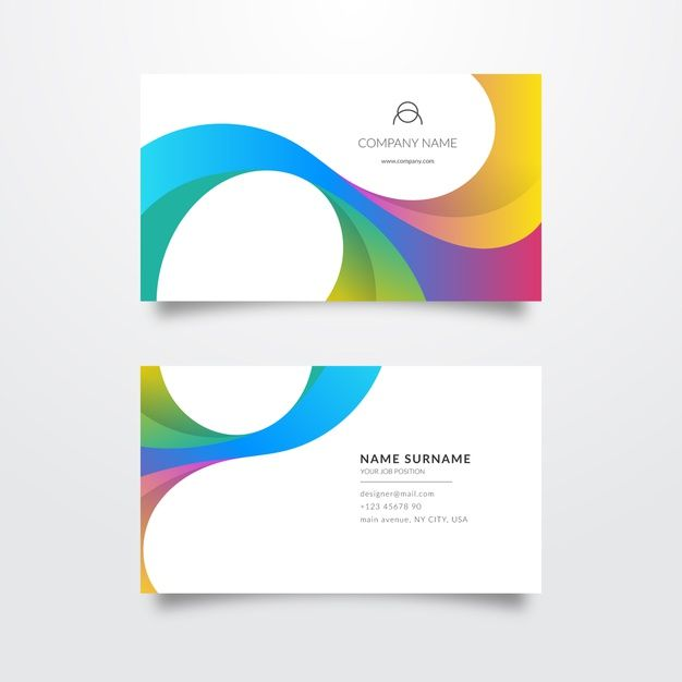 Elegant Colourful Business Card Template Free Vector Freepik Freevector B Colorful Business Card Graphic Design Business Card Free Business Card Templates