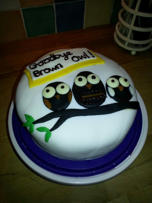 Owl cake - for brown owl's leaving party