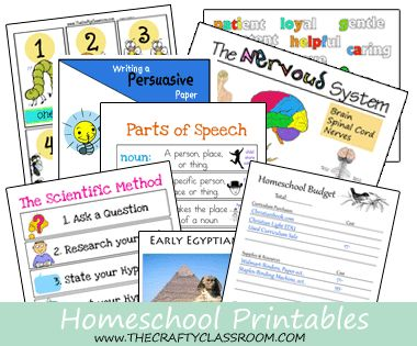 Lots of different printables!! Math, Science, Character building, Bible, writing & PLANNING!