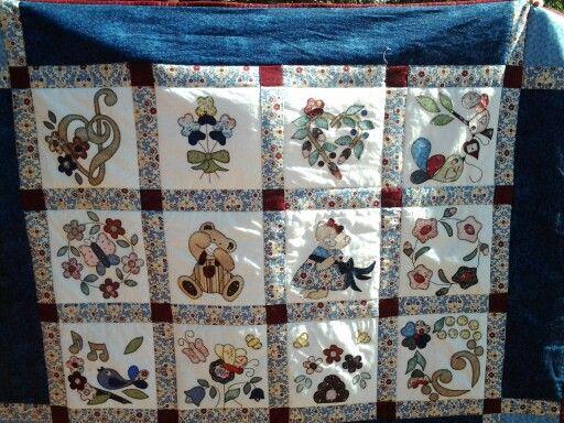 My first quilt, hand applique