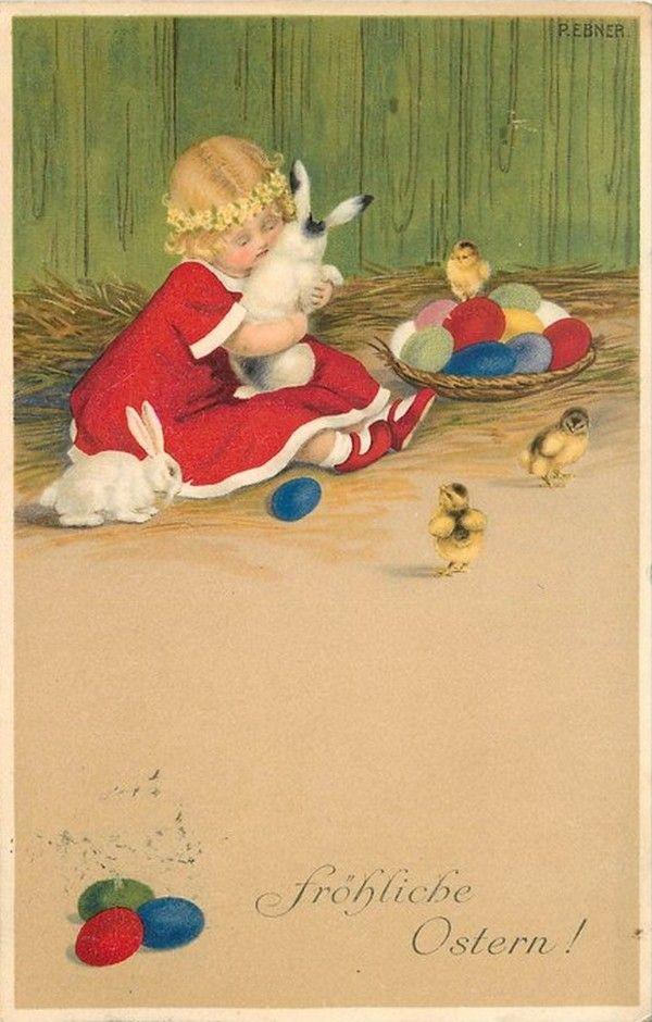 Pauli Ebner (1873-1949) — Old Easter Post Cards (600x940)