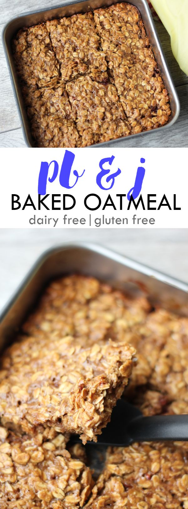 PB & J Baked Oatmeal - an easy to make grab-and-go breakfast! | Lean, Clean, & Brie