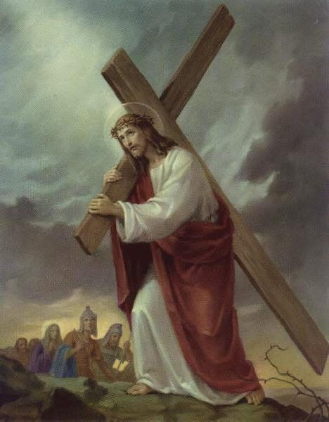 """""""In that old rugged cross, stained with blood so divine,  a wondrous beauty I see,  for 'twas on that old cross Jesus suffered and died,  to pardon and sanctify me.    To the old rugged cross I will ever be true;  its shame and reproach gladly bear;  then he'll call me some day to my home far away,  where his glory forever I'll share."""""""