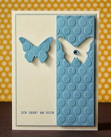 "Beautiful ""Thinking Of You"" Butterfly Card...using a positive/negative…"