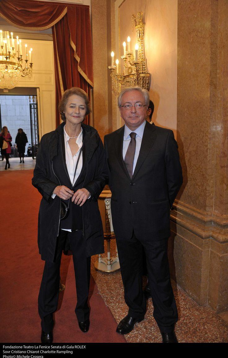 "Charlotte Rampling, Sovrintendente Cristiano Chiarot Rolex ""Mentor & Protégé, Arts Iniziative"" Gala Presentation Ceremony (October, 21st 2013)"