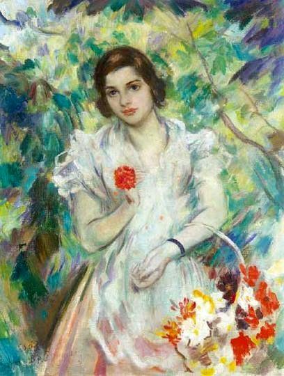 Csók, István (1865-1961) Gathering flowers