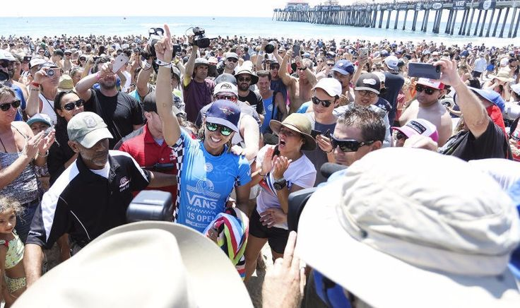 World Surf League: Vans US Open of Surfing, Sage Erickson (USA) claimed her career-first Championship Tour victory at Huntington Beach.