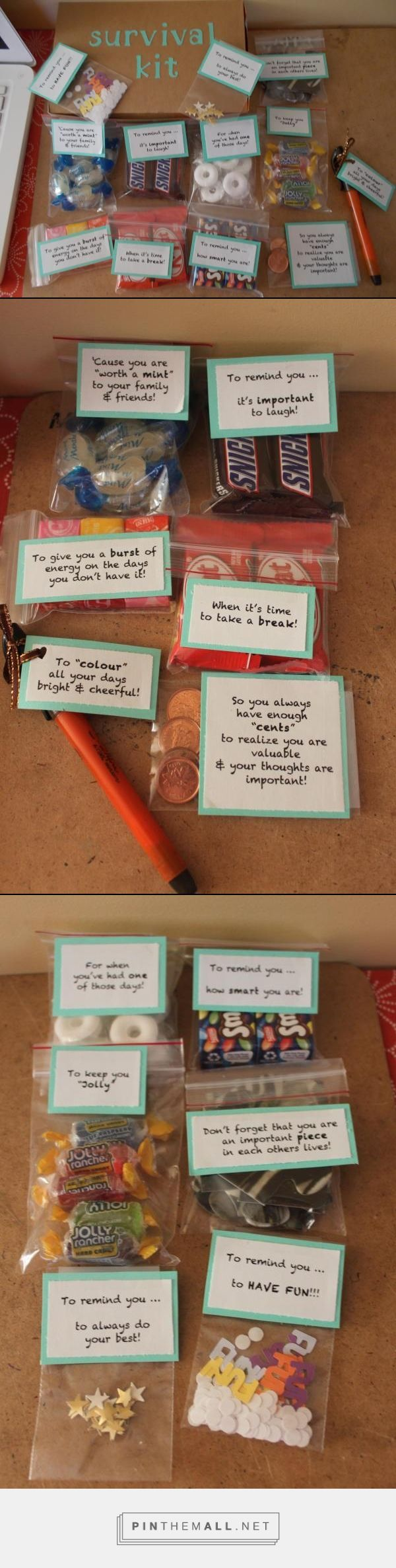 UNIVERSITY SURVIVAL KIT - Created this using a ideas from different survival kits posted on Pinterest.