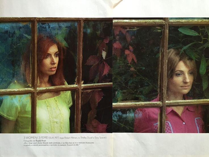 "Homage to ""3 Women"" movie, with Shelley Duvall and Sissy Spacek. Photo by Roald Aron. I was featured together with Alexandra Zabunov in Tabu magazine, November 2008 issue. A special project for Teachers Film Festival, along with other Romanian photographers."