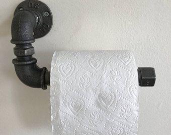 Industrial Toilet Roll Holder   Toilet Paper Dispenser   Toilet Paper    Bathroom Decor   Home