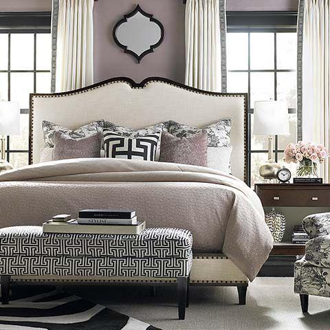 Presidio Upholstered Bed by Bassett Furniture #headboard