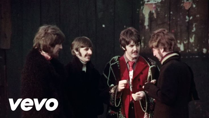 """The Beatles - Penny Lane Great video of the guys too…  """"In Penny Lane there is a fireman with an hourglass, And in his pocket is a portrait of the queen, He likes to keep his fire engine clean, It's a clean machine…"""""""