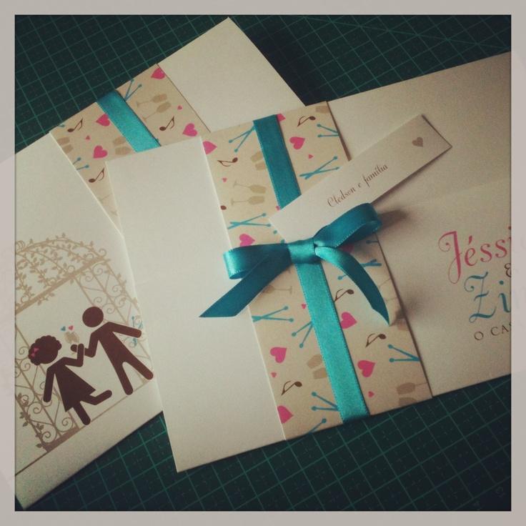convite de casamento com pictogramas invitation wedding