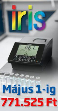 Vásárolja meg most Május 1-ig kedvezményes ajánlatunk keretében az új HI801 iris spektrofotométerünket csak 771.525 Ft-os bruttó áron.  Több mint 100 paraméter mérése lehetséges, a felhasználó egyéni mérési metódusokat is beprogramozhat.   A műszer 340 és 900 nm-es hullámhossz tartományban képes mérni.  Keressen bennünket bizalommal a hannainst.hu oldalunkon vagy a +36-62-541-034-es telefonszámon!