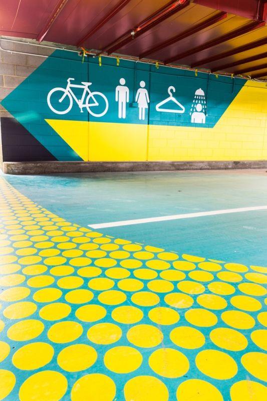 Casselden Basement Cyclist Facilities Way-finding design - Another Matt Ryan