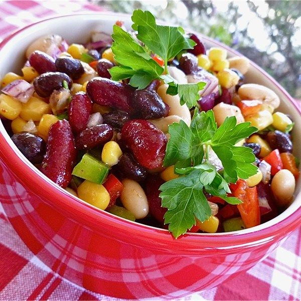 "Mexican Bean Salad I ""Let it sit in the refer and blend for at least an hour. It was the hit of the 4th of July party - even for those people that normally aren't too wild about bean salads!"""