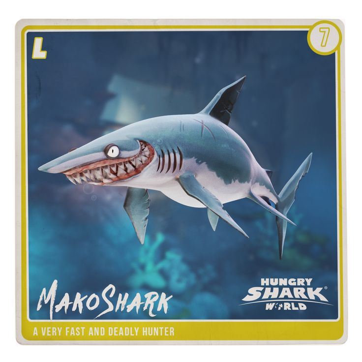 best hungry shark world images sharks the the mako shark is a shark in hungry shark world it is an l class shark
