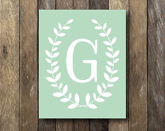 Child's Name Printable Gray Nursery Art by TheLionAndTheLark