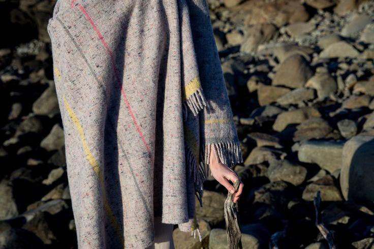 Marle - Soft Stripe (pink, grey, yellow) 70% merino wool & 30% recycled…