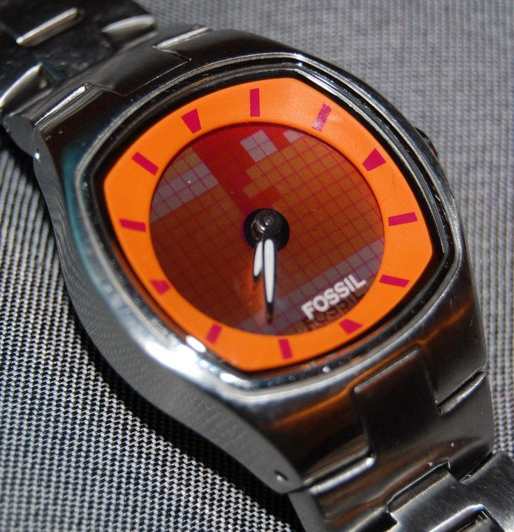 RARE Fossil Womens Big Tic Watch Animated Numbers Band JR8335 NEW BATTERIES!  | eBay