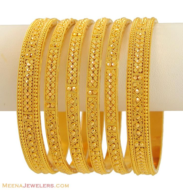 22Kt Indian Bangles (Set of 6)