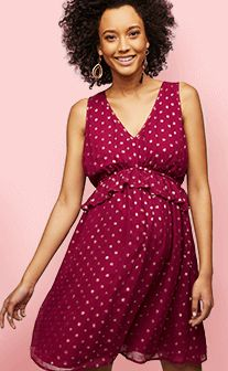 Metallic Dot Maternity Dress | A Pea in the Pod Maternity