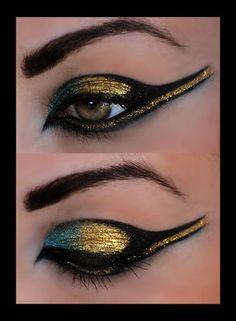 Resultado de imaxes para cleopatra maquillaje