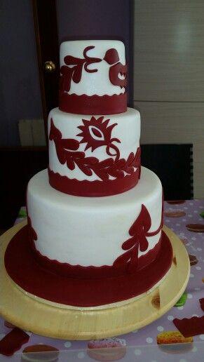 Tarta boda cenefa/wedding cake