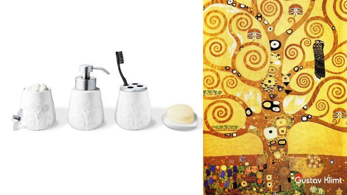 bathroom set design brush teeth Gustav Klimt deco--PO 1 sotano studio