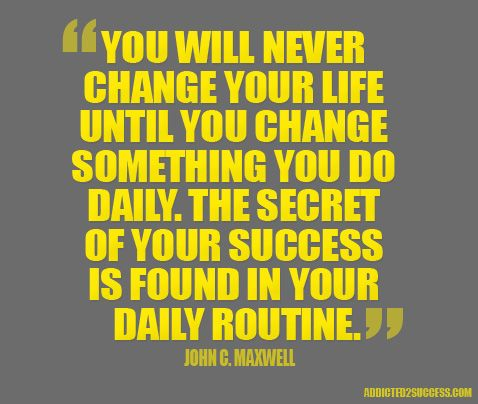 Small changes create bigger changes...