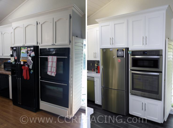 San Leandro reface refacing with White Shaker cabinet ...