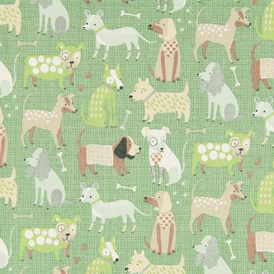 Cotton Colourful Dog 4 - Cotton - green