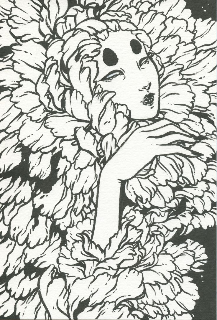 """""""Spectre"""" by jennaleeauclair Pentel brush pen on watercolour paper. It's available for sale! Shop Insta YouTube"""