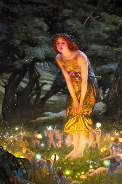 Edward Hughs ....Fairies, calssic   One of my favorite images. I always believed in fairies and help the neighborhood children create fairy houses.