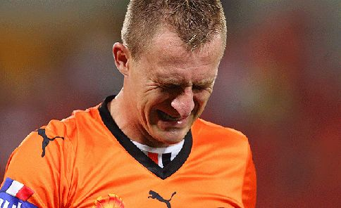 Besart Berisha cries with yet another send-off. What must Melbourne Victory be thinking?